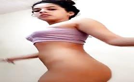 Sexy Latina Teen Dances Naked