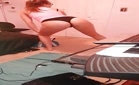 white girl teen bedroom panty twerk