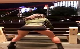 my wife twerking on the las vegas strip