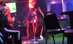 strippers giving a lapdance and twerking