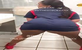 Phat ass ebony twerks it with no panties!