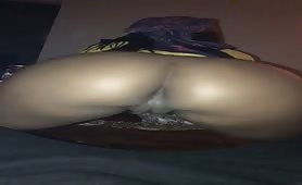 Ebony queen twerks her ass and pussy