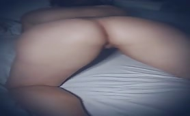 Sexy PAWG tweking and showing her shaved pussy